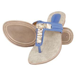 Niremo Women's Edwy Candy Fashion Blue Faux Leather Sandals - 75518454
