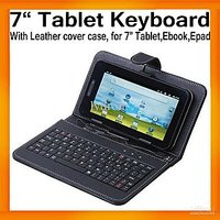USB Keyboard Keypad Leather Stand Case Cover For 7 Inch Tablet
