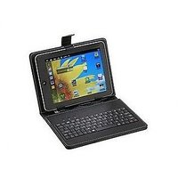 ClickAway Universal 10 Inch Tablet Keyboard With Leather Case With Org Cable Free