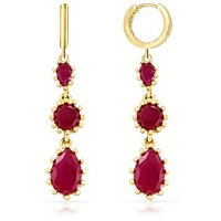 Mahi Gold Plated Winsome Earrings With CZ And Ruby
