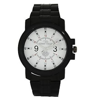 TIGERHILLS 3D GLASS BLACKISH STAINESS STEEL WATCH - 75677284