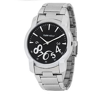 TIGERHILLS 3D GLASS STAINESS STEEL WATCH FOR MEN