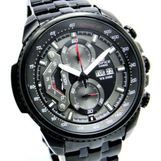 CASIO EDIFICE EF 558 BK BLACK PREMIUM CHRONOGRAPH MENS DAY DATE WRIST WATCH GIFT - 75689494