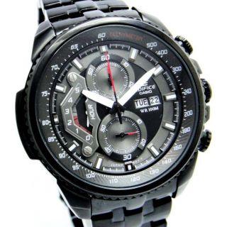 CASIO EDIFICE EF 558 BK BLACK PREMIUM CHRONOGRAPH MENS DAY DATE WRIST WATCH GIFT - 75689660