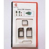 Sim Card Adapter Nano To Micro-Nano To Regular-Micro To Regular With Pin Black