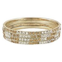 Set Of Four Bangles In Golden And White (C2RJ0101CGWH2.8)