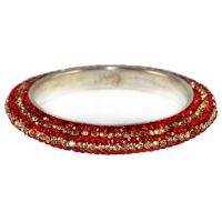 Pair Of Stunning Red And Golden Bangles For The Traditional Touch (K16RJ01017LPPRE2.8)