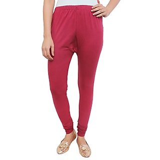 White Feather Maroon Cotton Lycra Churidar