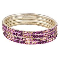 Set Of Four Bangles In Golden And Voilet (C2RJ0101CGVO2.8)