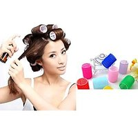Big_roller_6 Hair Rollers Curlers Styling Velcro Soft Curler Foam Tool 6pcs