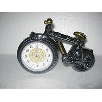 ROYAL CYCLE TABLE CLOCK WITH AlLARM FOR YOUR BEAUTIFULl HOME - FREE SHIP
