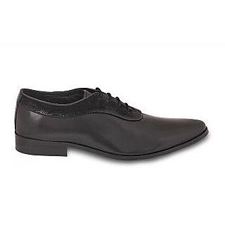 Antique Look Men's Leather Formal Shoes Black