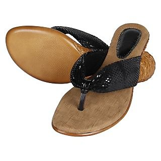 Niremo Women's Melora Black Faux Leather Sandal - 75766082