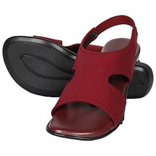 Niremo Women's Cage On Red Faux Leather Sandal