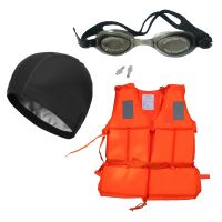 Dolphy Manual Swimming Life Jacket, Goggle, Cap Combo. - 75768584