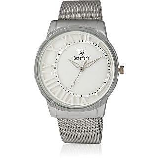 Scheffer's W-SH-2804 White Analog Watch