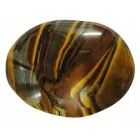 Worry Stones - Golden Tiger Eye Worry Stone (India) OVAL