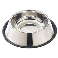 Stainless Steel Feeding Bowl With Rubber Ring For Dogs Diameter - 20 Cm