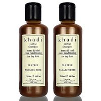 Khadi Henna & Tulsi Extra Conditioning Shampoo SLS & Paraben Free(Twin Pack)