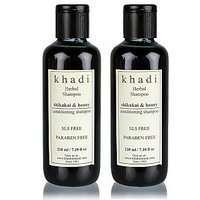 Khadi Shikhakai And Honey Shampoo SLS & Paraben Free  (Twin Pack) (420 Ml)