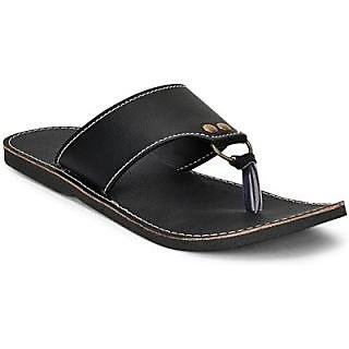Ecofriendly Men's Black Slip On Sandals