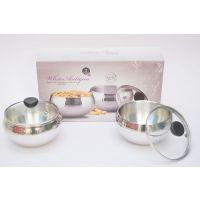 Double Wall Stainless Steel Multipurpose Big Bowl Set With Lid (2 Piece Set) Export Quality