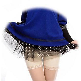Seamless Comfort Silk Lace Shorts Leggings Pants Begie