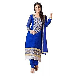Krizel Glamour Women's Georgette unstitched Anarkali Salwar Suit dress material