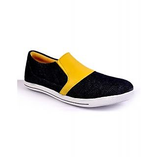 Duppy Black Men's Casual Slip-on Canvas Shoes (DPY006BLKMI)