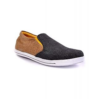 Duppy Black Men's Casual Slip-on Canvas Shoes (DPY005BLKMI)