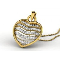 0.23 Cts Sparkles Diamond Pendant  In 18KT Gold