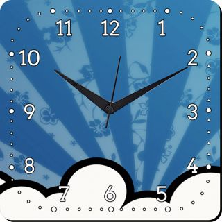 Mesleep Rise Up Wall Clocks In Blue Colour