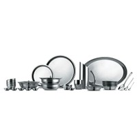 Krome Stainless Steel Classic Dinner Set (24 Pcs) By Jindal Stainless