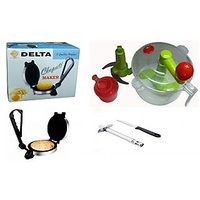 Delta Roti Maker With KONVEX Dough Maker Dual Perpose With Free Gas Lighter