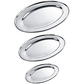 Stainless Steel Oval Plate at shopclues