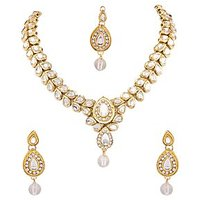 Neelam Antiq Kundan Alloy Jewel Set (Gold)