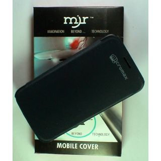 MJR Flip Cover For Micromax Canvas Hd A116 Black available at ShopClues for Rs.155