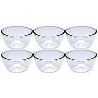 Nanson White Lucky Thailand Glass Bowl Set (Pack Of 6) - 76650656