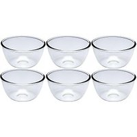 Nanson White Lucky Thailand Glass Bowl Set (Pack Of 6)