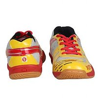 Men's Artificial Leather Sports Shoes Yellow And Red