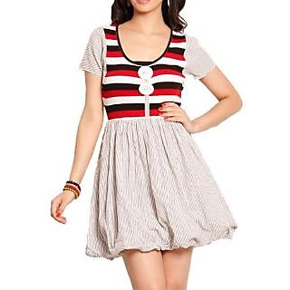Belle Fille Red&White Cotton Dress