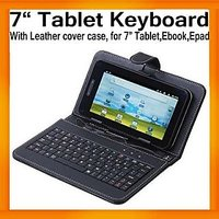 ClickAway 7 Inch Black Case USB Keyboard For Tablet