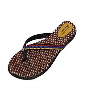 Action Florina Stylish Women Slipper For Casual Wear Tan Colour