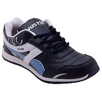 Just Go Men Superior Quality White Blue Sport Shoes 631