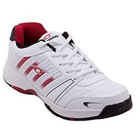 Prozone Men Designer Funky White Red Sports Shoes 642