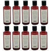 Hair Shampoo - Honey & Almond Oil Shampoo - Combo Pack Of 10 - By Khadi