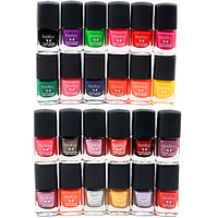 Foolzy Pack Of 24 Glittering Nail Polish Paint