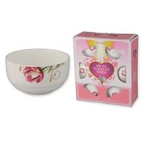 Beautiful 12 Piece Soup Set With Floral Design (6 Soup Bowls + 6 Soup Spoons)