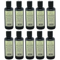 Hair Shampoo - Herbal - Amla & Bhringraj Shampoo - Combo Pack Of 10 - By Khadi