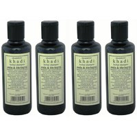 Hair Shampoo - Herbal - Amla & Bhringraj Shampoo - Combo Pack Of 4 - By Khadi